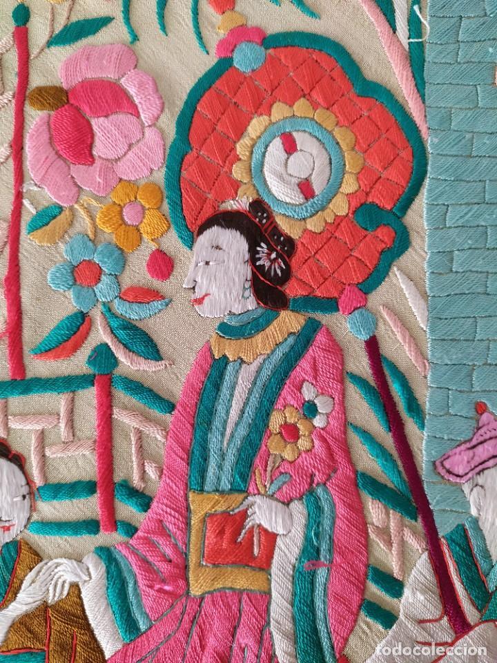 Antigüedades: Impresionante mantón de Manila del S. XIX - Foto 53 - 213877765