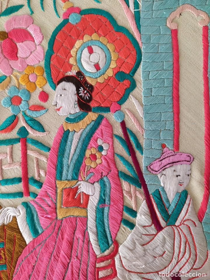 Antigüedades: Impresionante mantón de Manila del S. XIX - Foto 55 - 213877765