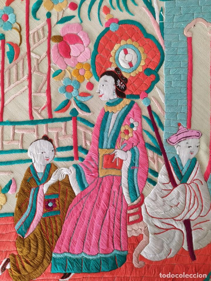 Antigüedades: Impresionante mantón de Manila del S. XIX - Foto 56 - 213877765
