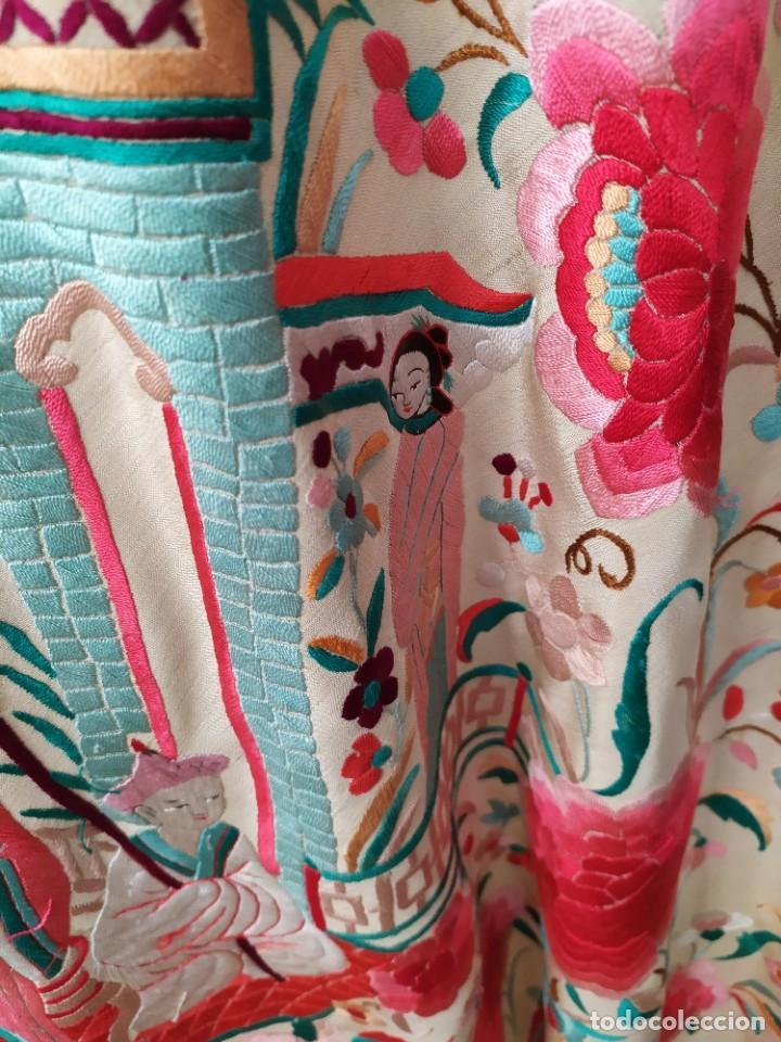 Antigüedades: Impresionante mantón de Manila del S. XIX - Foto 61 - 213877765