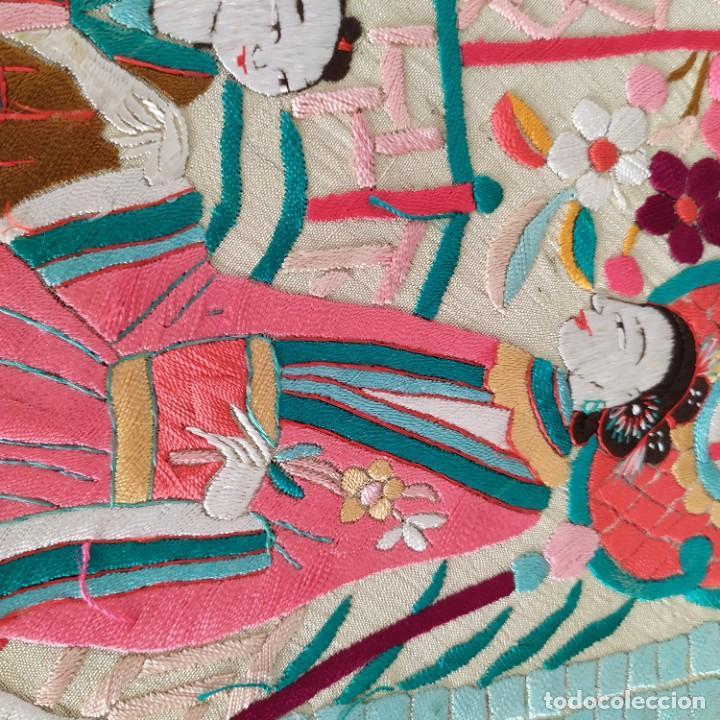 Antigüedades: Impresionante mantón de Manila del S. XIX - Foto 63 - 213877765