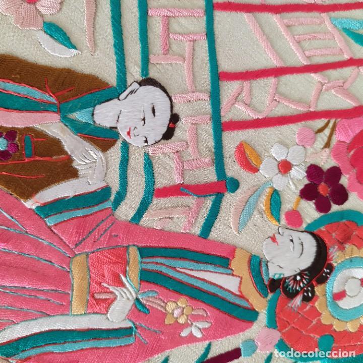 Antigüedades: Impresionante mantón de Manila del S. XIX - Foto 65 - 213877765