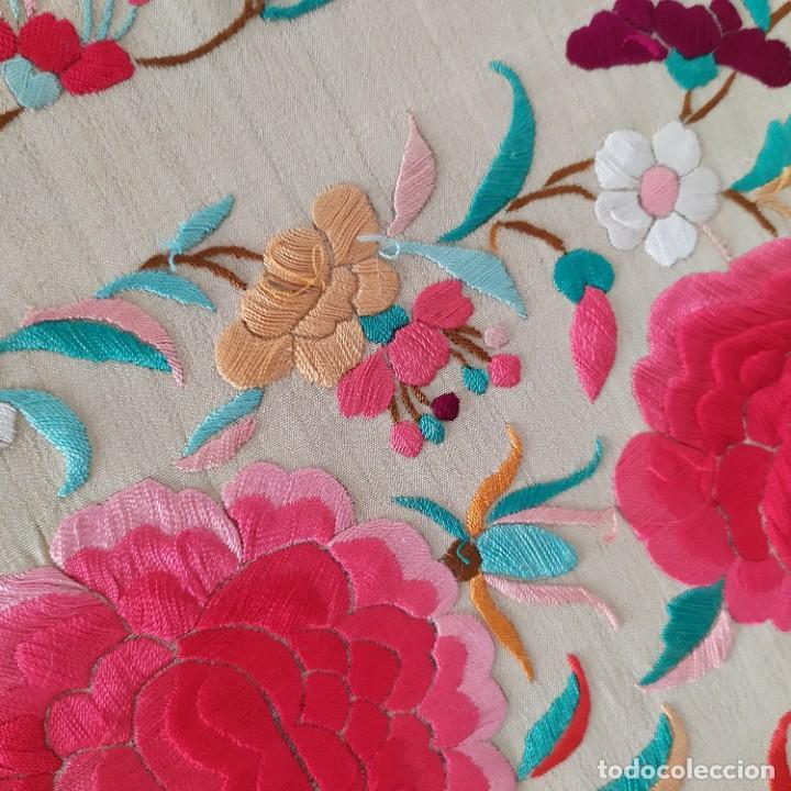 Antigüedades: Impresionante mantón de Manila del S. XIX - Foto 67 - 213877765