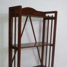 Antigüedades: BONITA ESTANTERÍA ART DECÓ - LIBRERÍA MADERA DE HAYA CON MARQUETERÍA - IDEAL BIBLIOTECA - AÑOS 20. Lote 213880778