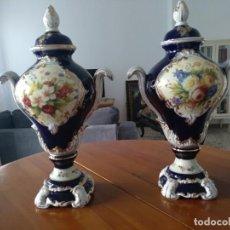 Antigüedades: PAREJA JARRONES DE PORCELANA FRANCESA RETIER. GRANDES. Lote 213899107