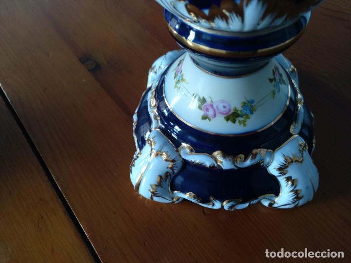 Antigüedades: Pareja Jarrones de Porcelana Francesa RETIER. Grandes - Foto 3 - 213899107