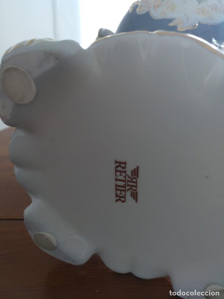 Antigüedades: Pareja Jarrones de Porcelana Francesa RETIER. Grandes - Foto 5 - 213899107