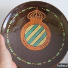 Antigüedades: PLATO REAL CLUB DEPORTIVO ESPAÑOL 28 CENTIMETROS DE DIAMETRO. Lote 213902146