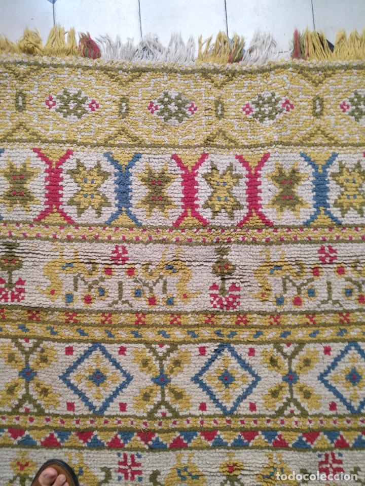 Antigüedades: ANTIGUA ALFOMBRA LANA ALPUJARREÑA s.r.c AÑOS 40S APROXIMADAMENTE GRAN TAMAÑO GRANADA LAZUBILA - Foto 5 - 213909706