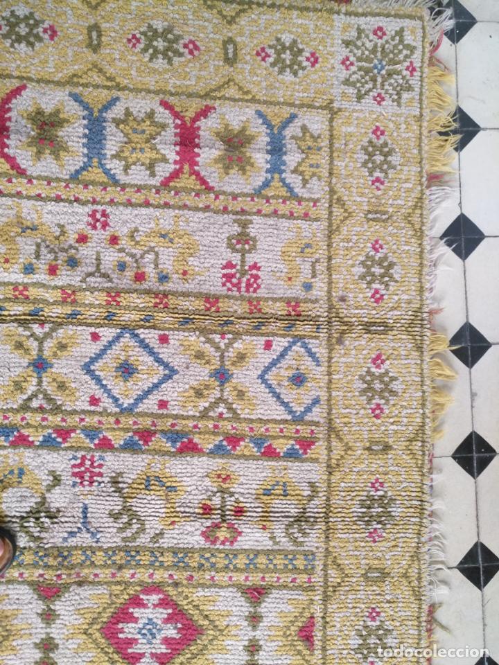 Antigüedades: ANTIGUA ALFOMBRA LANA ALPUJARREÑA s.r.c AÑOS 40S APROXIMADAMENTE GRAN TAMAÑO GRANADA LAZUBILA - Foto 9 - 213909706