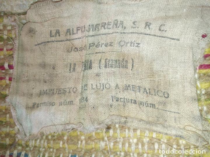 Antigüedades: ANTIGUA ALFOMBRA LANA ALPUJARREÑA s.r.c AÑOS 40S APROXIMADAMENTE GRAN TAMAÑO GRANADA LAZUBILA - Foto 12 - 213909706