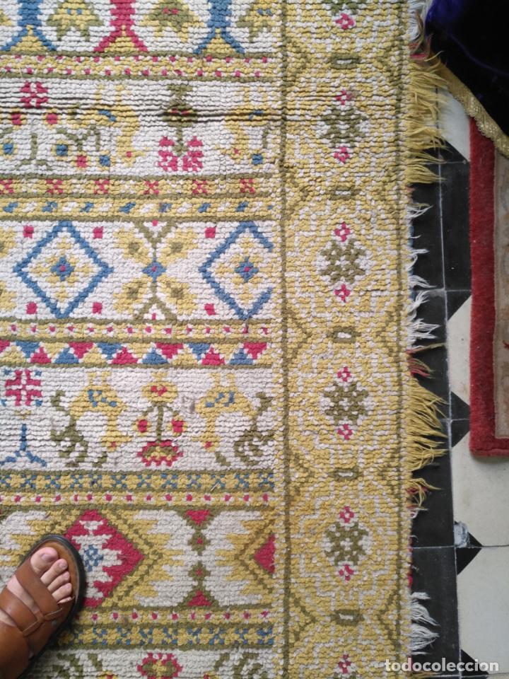 Antigüedades: ANTIGUA ALFOMBRA LANA ALPUJARREÑA s.r.c AÑOS 40S APROXIMADAMENTE GRAN TAMAÑO GRANADA LAZUBILA - Foto 15 - 213909706