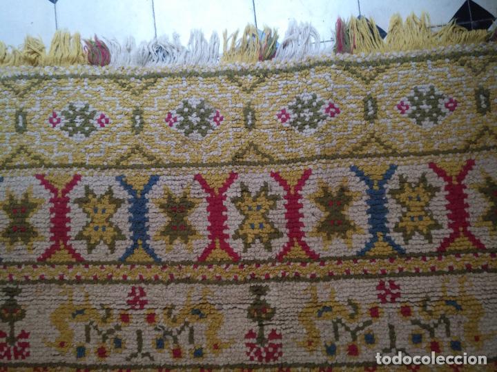 Antigüedades: ANTIGUA ALFOMBRA LANA ALPUJARREÑA s.r.c AÑOS 40S APROXIMADAMENTE GRAN TAMAÑO GRANADA LAZUBILA - Foto 25 - 213909706
