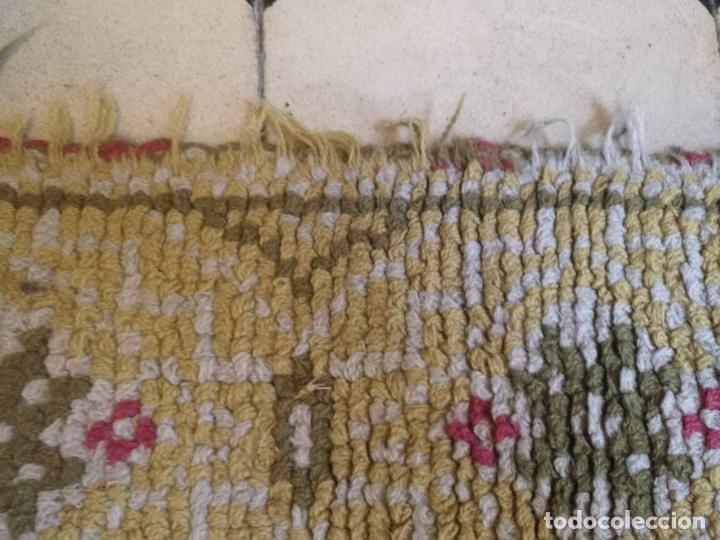Antigüedades: ANTIGUA ALFOMBRA LANA ALPUJARREÑA s.r.c AÑOS 40S APROXIMADAMENTE GRAN TAMAÑO GRANADA LAZUBILA - Foto 30 - 213909706