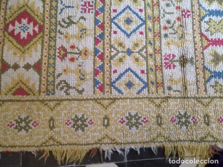 Antigüedades: ANTIGUA ALFOMBRA LANA ALPUJARREÑA s.r.c AÑOS 40S APROXIMADAMENTE GRAN TAMAÑO GRANADA LAZUBILA - Foto 31 - 213909706