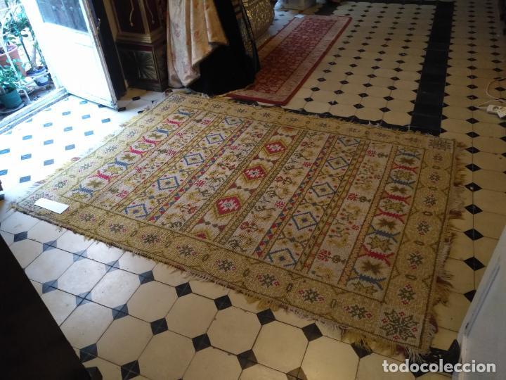 Antigüedades: ANTIGUA ALFOMBRA LANA ALPUJARREÑA s.r.c AÑOS 40S APROXIMADAMENTE GRAN TAMAÑO GRANADA LAZUBILA - Foto 37 - 213909706