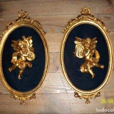 Antigüedades: PAREJA DE ANGELOTES. Lote 213958473