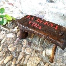 Antigüedades: BANCO DE ORDEÑO. Lote 213961095
