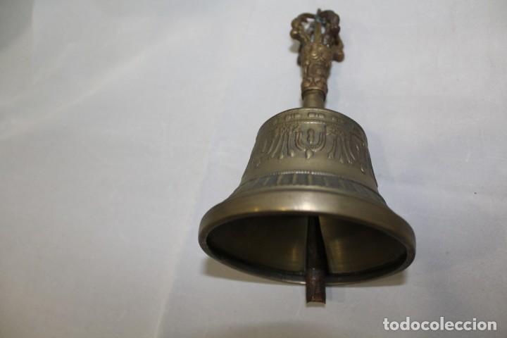 Antigüedades: ANTIGUA CAMPANA TIBETANA DE BRONCE - Foto 2 - 213969120
