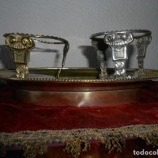 Antigüedades: BANDEJA PARA LAS VINAJERAS RELIGIOSAS. Lote 213976781