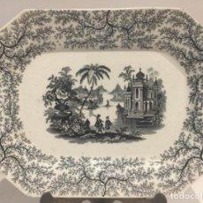 Antigüedades: BANDEJA PICKMAN OCHAVADA NEGRA CON ORLA FIBRA 1898. Lote 213980550