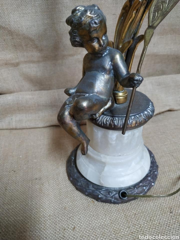 Antigüedades: Làmpara bronce y otros metales ,mármol .Años 50 ó 60 . - Foto 2 - 213986078