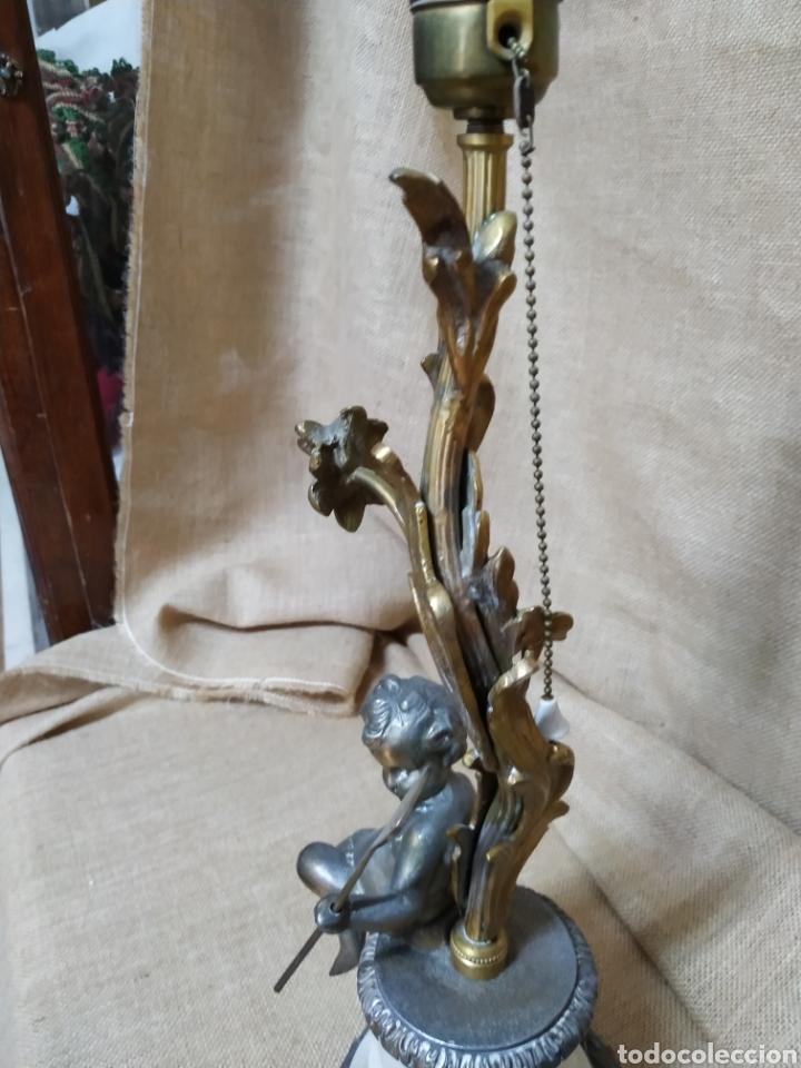 Antigüedades: Làmpara bronce y otros metales ,mármol .Años 50 ó 60 . - Foto 5 - 213986078
