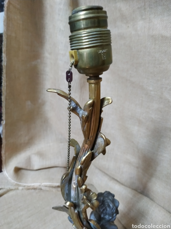 Antigüedades: Làmpara bronce y otros metales ,mármol .Años 50 ó 60 . - Foto 9 - 213986078
