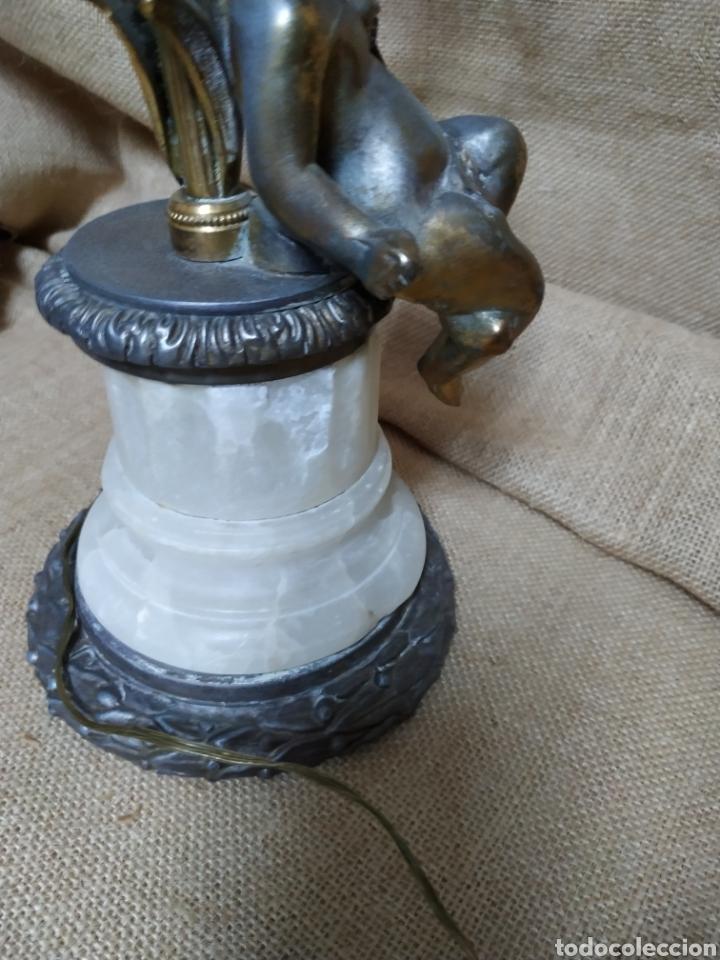 Antigüedades: Làmpara bronce y otros metales ,mármol .Años 50 ó 60 . - Foto 11 - 213986078