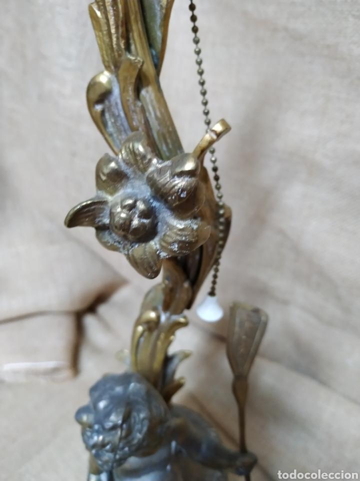 Antigüedades: Làmpara bronce y otros metales ,mármol .Años 50 ó 60 . - Foto 14 - 213986078