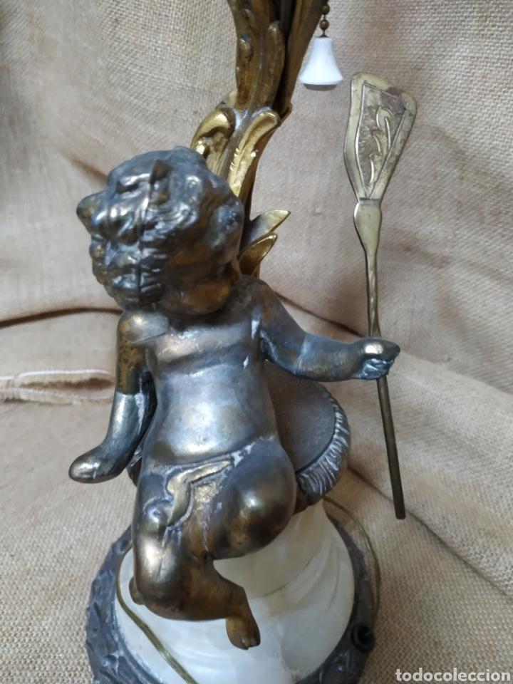 Antigüedades: Làmpara bronce y otros metales ,mármol .Años 50 ó 60 . - Foto 15 - 213986078