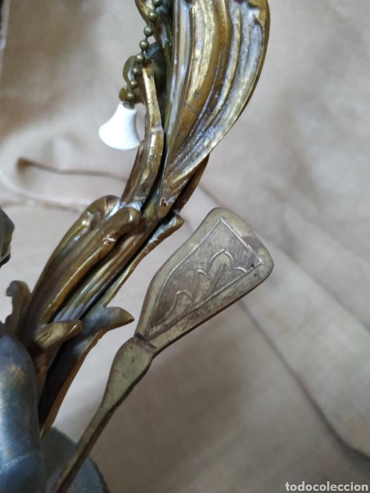 Antigüedades: Làmpara bronce y otros metales ,mármol .Años 50 ó 60 . - Foto 18 - 213986078