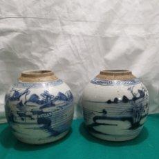 Antigüedades: JARRONES CHINOS DE JENGIBRE. Lote 213998277