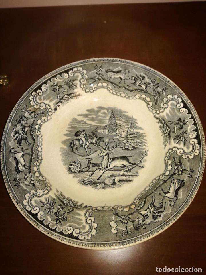 PLATO SOPERO DE LOZA LA AMISTAD CARTAGENA (Antigüedades - Porcelanas y Cerámicas - Cartagena)