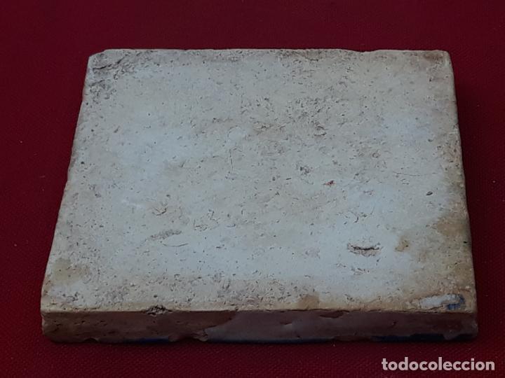Antigüedades: 1 ) AZULEJO ANTIGUO DE TALAVERA / TOLEDO - RENACIMIENTO - SIGLO XVI. - Foto 3 - 214020780