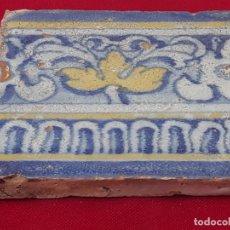 Antigüedades: 3 ) AZULEJO ANTIGUO DE TALAVERA / TOLEDO - RENACIMIENTO - SIGLO XVI.. Lote 214021583