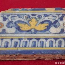 Antigüedades: 4 ) AZULEJO ANTIGUO DE TALAVERA / TOLEDO - RENACIMIENTO - SIGLO XVI.. Lote 214021821