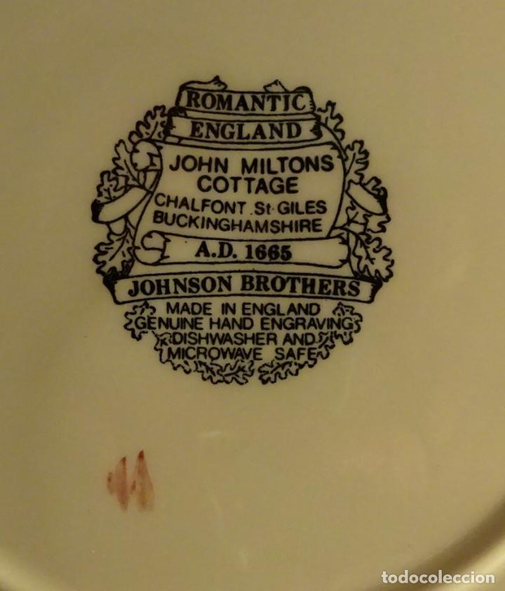 Antigüedades: PLATO JOHNSON BROTHERS SERIE ROMANTIC ENGLAND. GRABADO A MANO A.D. 1665. FIRMADO - Foto 3 - 214043651