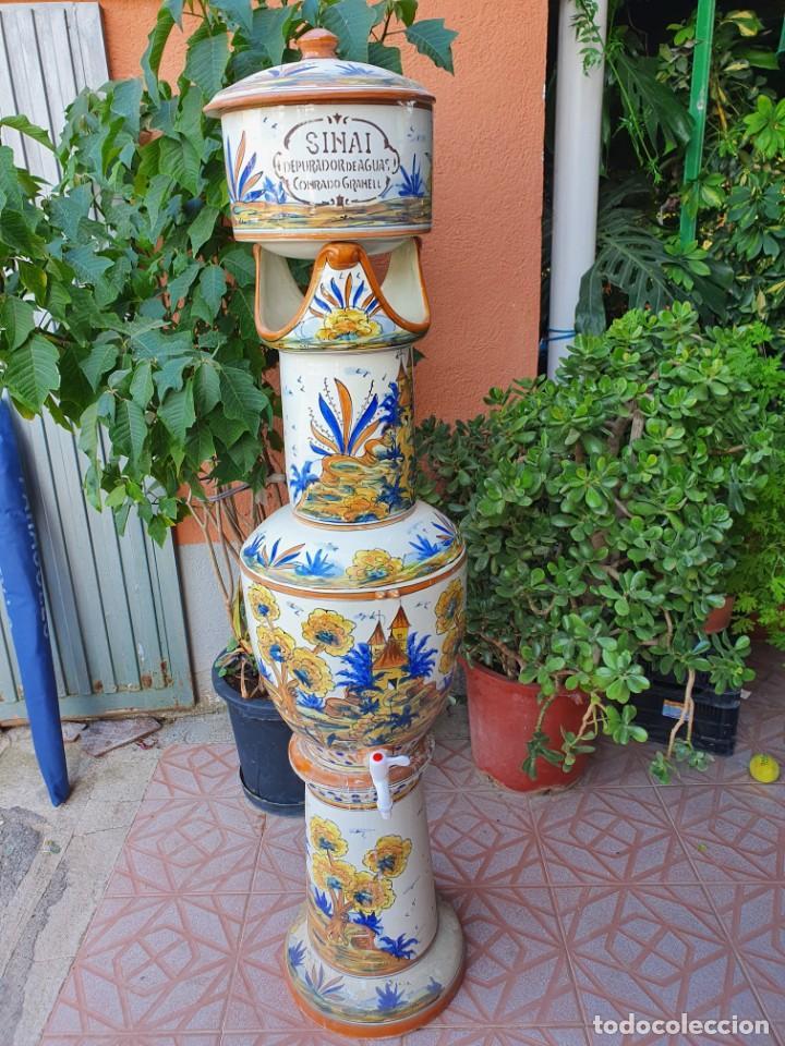 ANTIGUA DEPURADORA DE SINAI (Antigüedades - Porcelanas y Cerámicas - Manises)