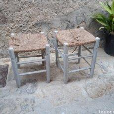 Antigüedades: PAREJA TABURETES MADERA. Lote 214078897