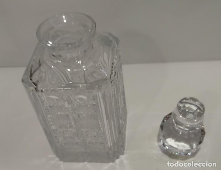 Antigüedades: BOTELLA CRISTAL DE BOHEMIA CHECOSLOVAQUIA TALLADO CON TAPÓN - Foto 8 - 214096387