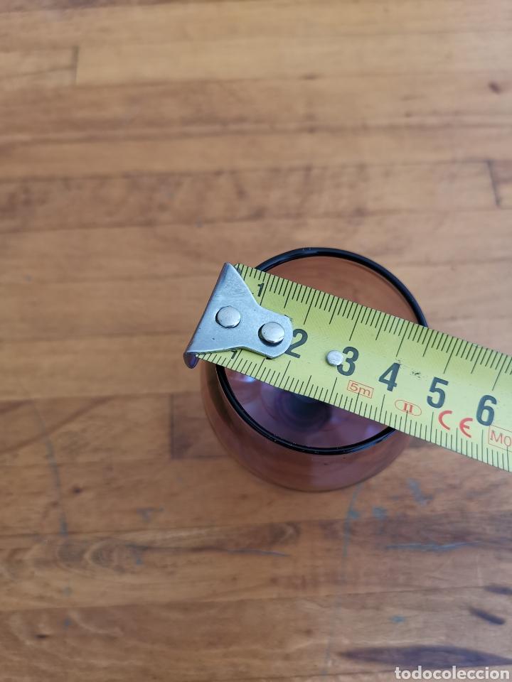 Antigüedades: 5 copas tipo conyac de cristal de colores 1960s 1970s - Foto 12 - 214097366