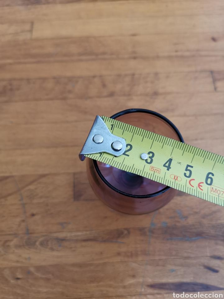 Antigüedades: 5 copas tipo conyac de cristal de colores 1960s 1970s - Foto 13 - 214097366