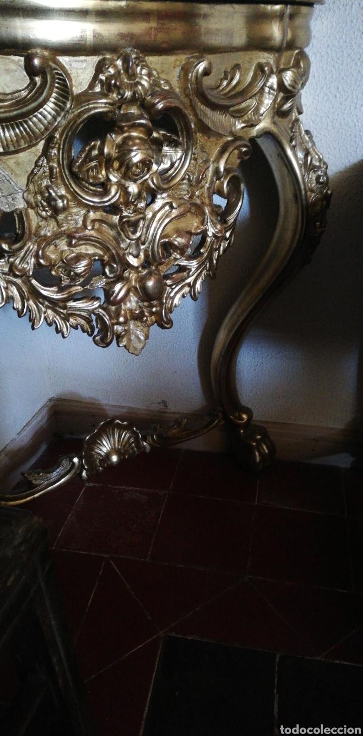 Antigüedades: Pareja de Esquineras doradas muy antiguas. - Foto 3 - 214106157