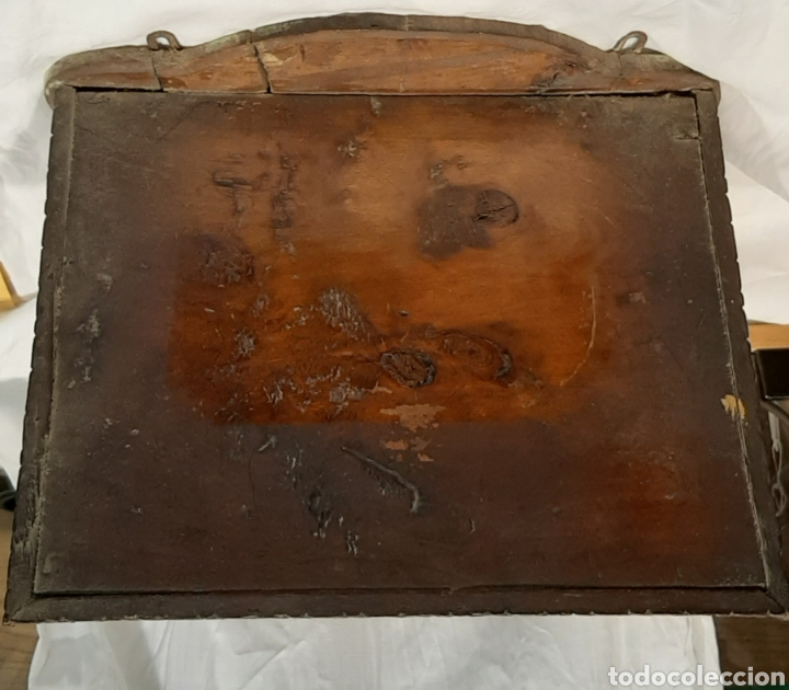 Antigüedades: PEANA DE PARED. REPISA NEOGÓTICA, MADERA TALLADA. - Foto 4 - 214119682