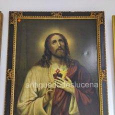 Antigüedades: N58 ANTIGUO CUADRO CORAZÓN DE JESÚS. Lote 214155923