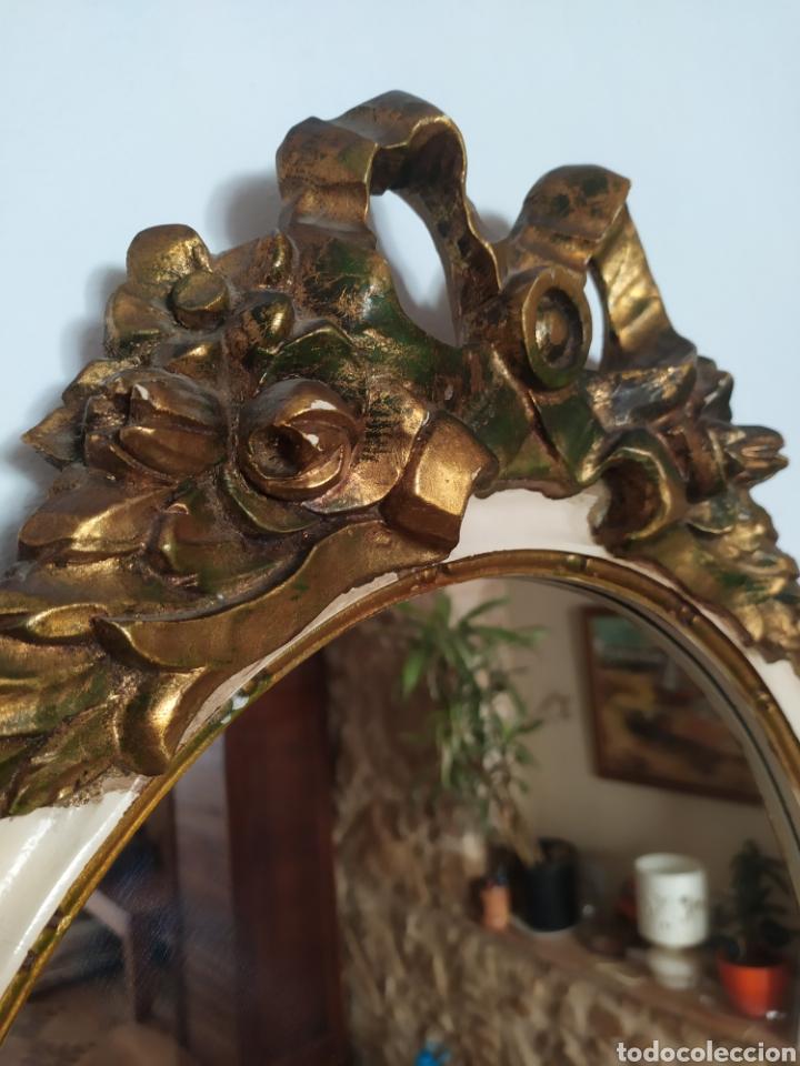 Antigüedades: Espectacular Cornucopia espejo francés de época. - Foto 2 - 214168505