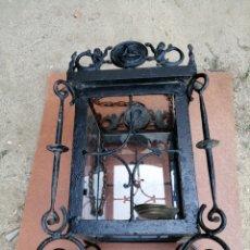 Antigüedades: FAROL DE HIERRO Y BRONCE. Lote 214171676
