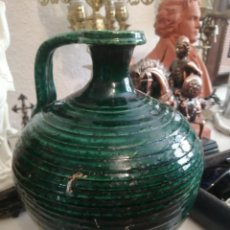 Antigüedades: PERULA O BOTIJA BARRO VERDE DE UBEDA. Lote 214181901