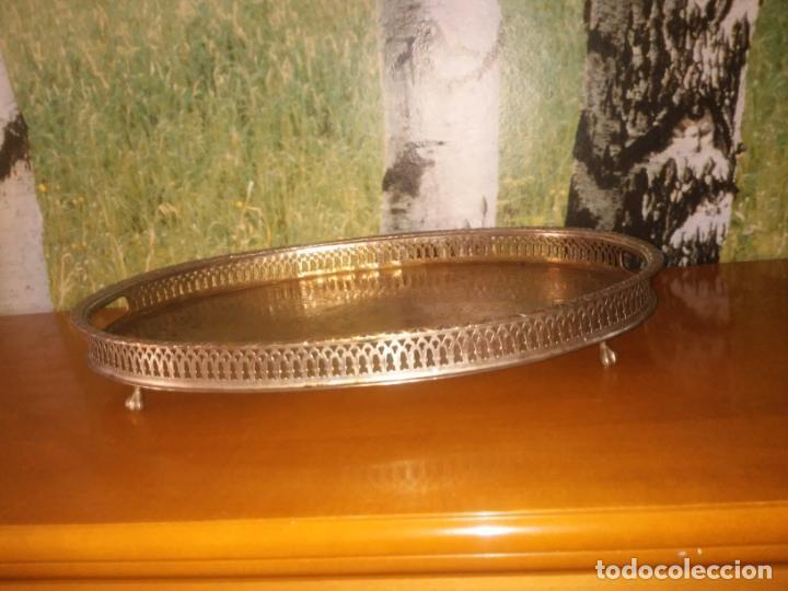 Antigüedades: Antigua bandeja de metal (Mide 48 cm x 34 cm) - Foto 3 - 214190167